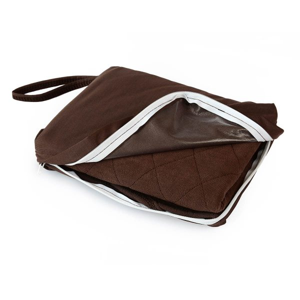 Brown Incontinence Chair Pad in Bag