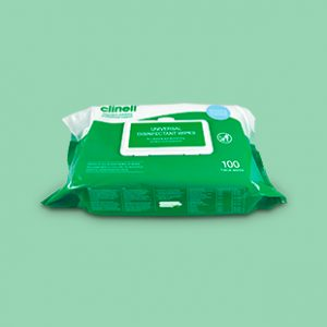 Clinell Universal Wipes Hospital Grade Dinfectant Wipes 100 pack